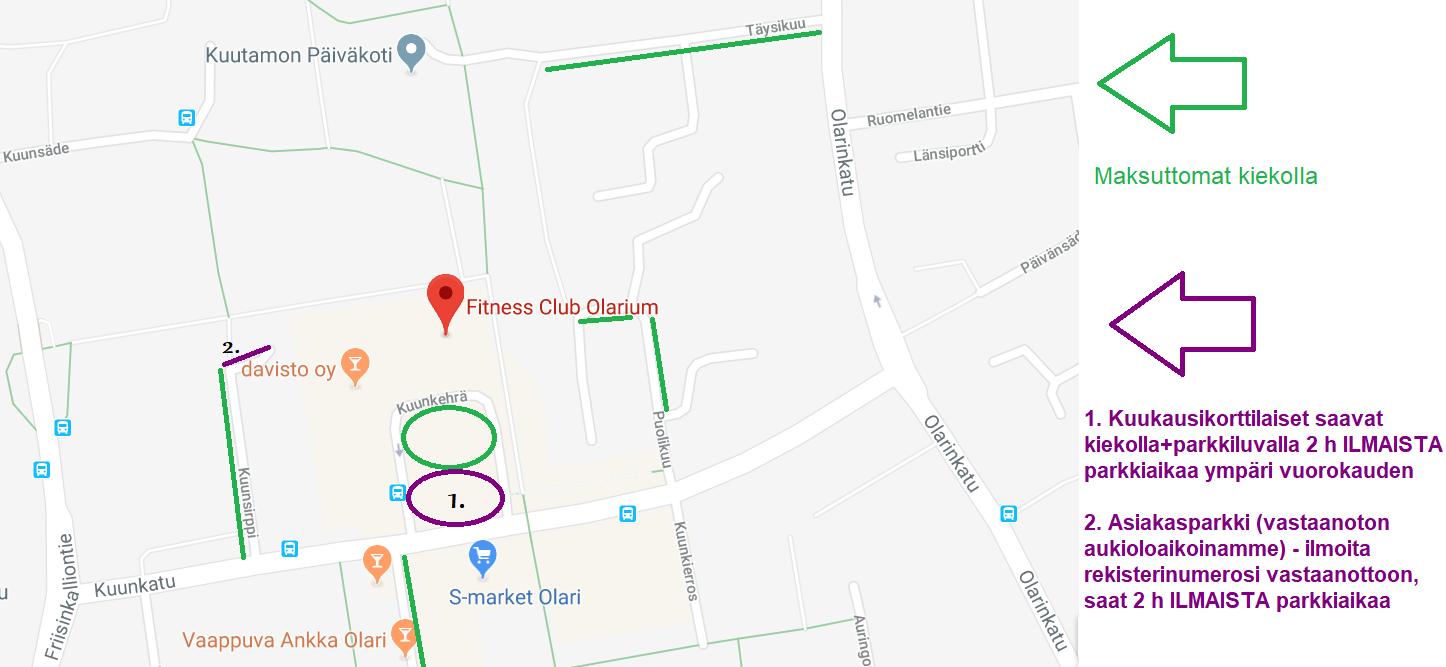 Pysäköinti helpottuu Olariumin asiakkaille – kuukausikorttilaisille edestämme paikat 2h parkkiluvalla!
